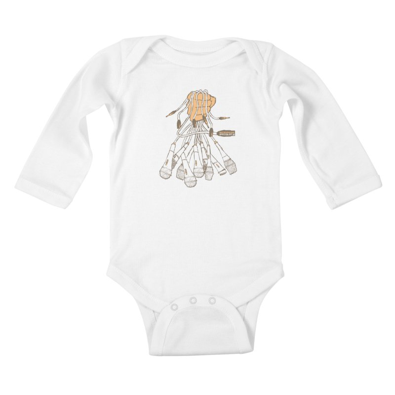 Microphone Specialist Kids Baby Longsleeve Bodysuit by magneticclothing's Artist Shop