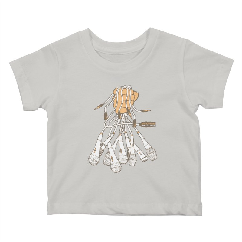 Microphone Specialist Kids Baby T-Shirt by magneticclothing's Artist Shop