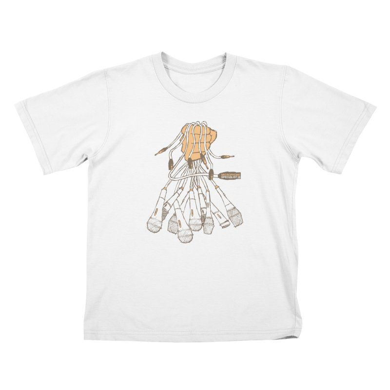 Microphone Specialist Kids T-Shirt by magneticclothing's Artist Shop