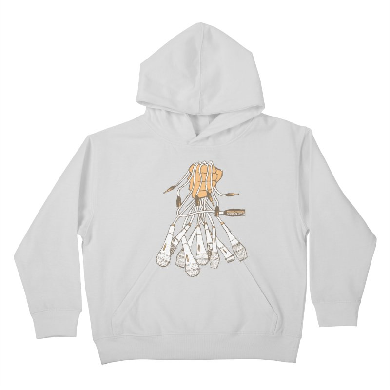 Microphone Specialist Kids Pullover Hoody by magneticclothing's Artist Shop
