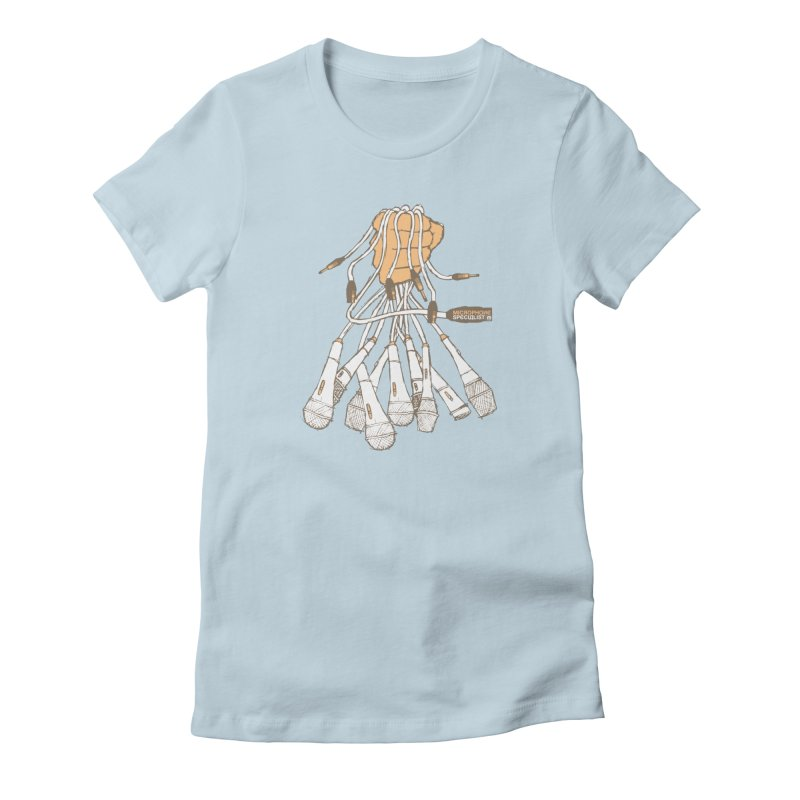 Microphone Specialist Women's T-Shirt by magneticclothing's Artist Shop