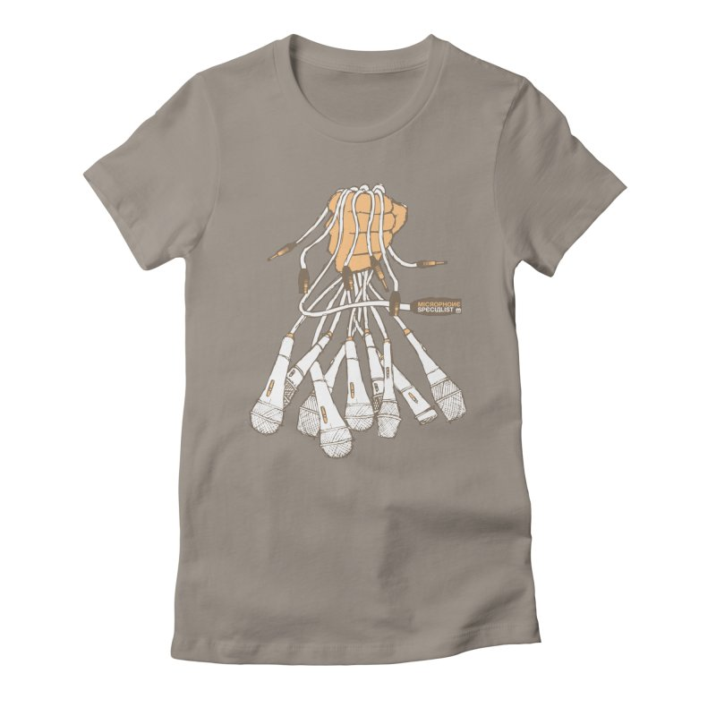 Microphone Specialist Women's Fitted T-Shirt by magneticclothing's Artist Shop