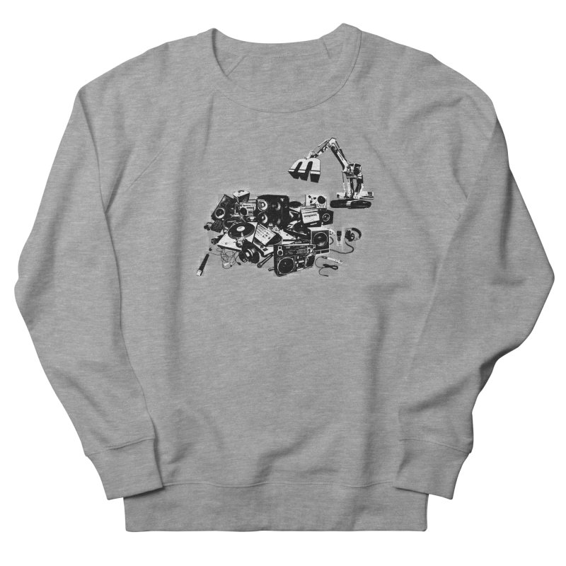 Hip Hop Junkyard Men's French Terry Sweatshirt by magneticclothing's Artist Shop