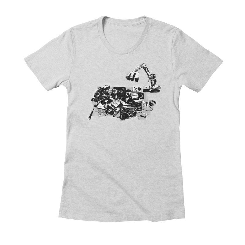 Hip Hop Junkyard Women's Fitted T-Shirt by magneticclothing's Artist Shop