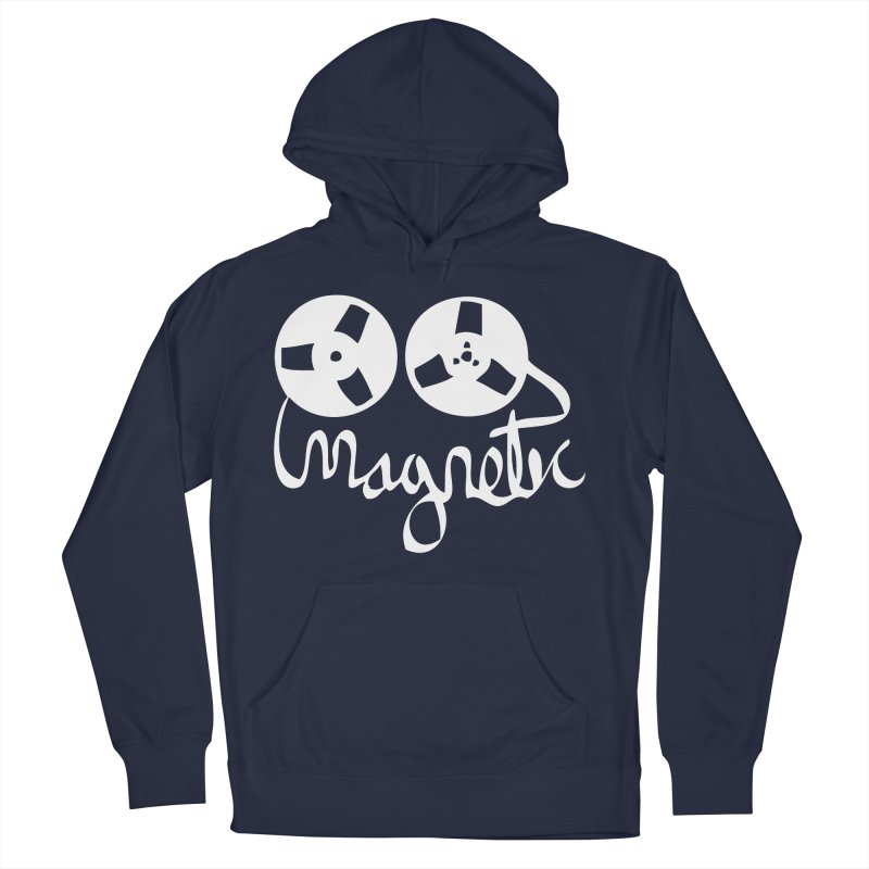 Magnetic Tape Reel Men's French Terry Pullover Hoody by magneticclothing's Artist Shop