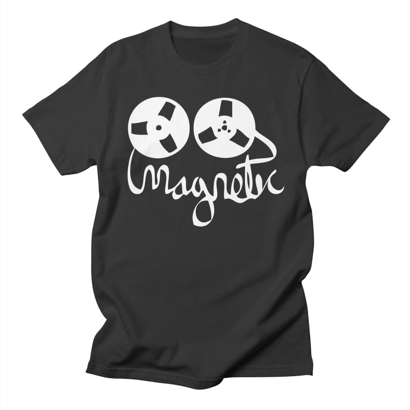 Magnetic Tape Reel Men's Regular T-Shirt by magneticclothing's Artist Shop