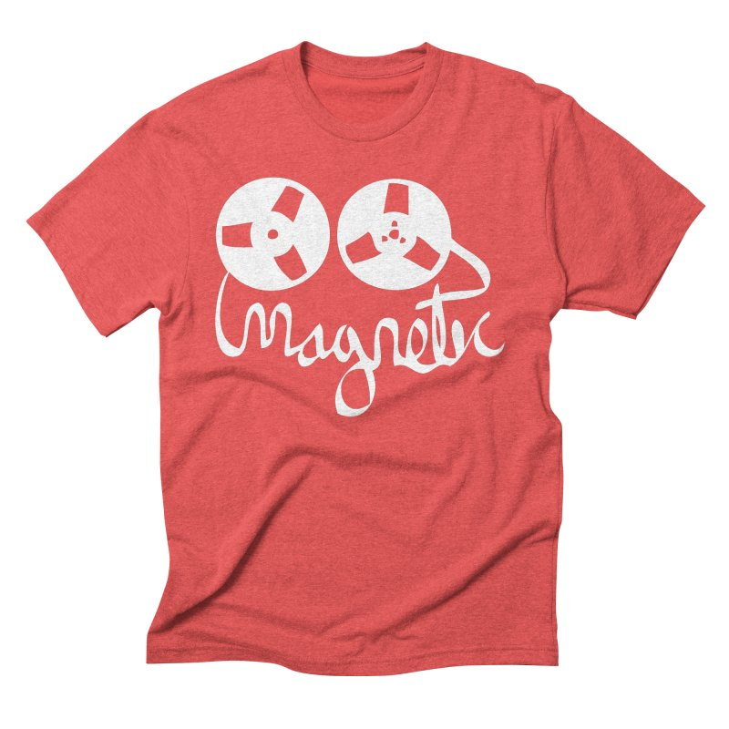 Magnetic Tape Reel Men's Triblend T-Shirt by magneticclothing's Artist Shop