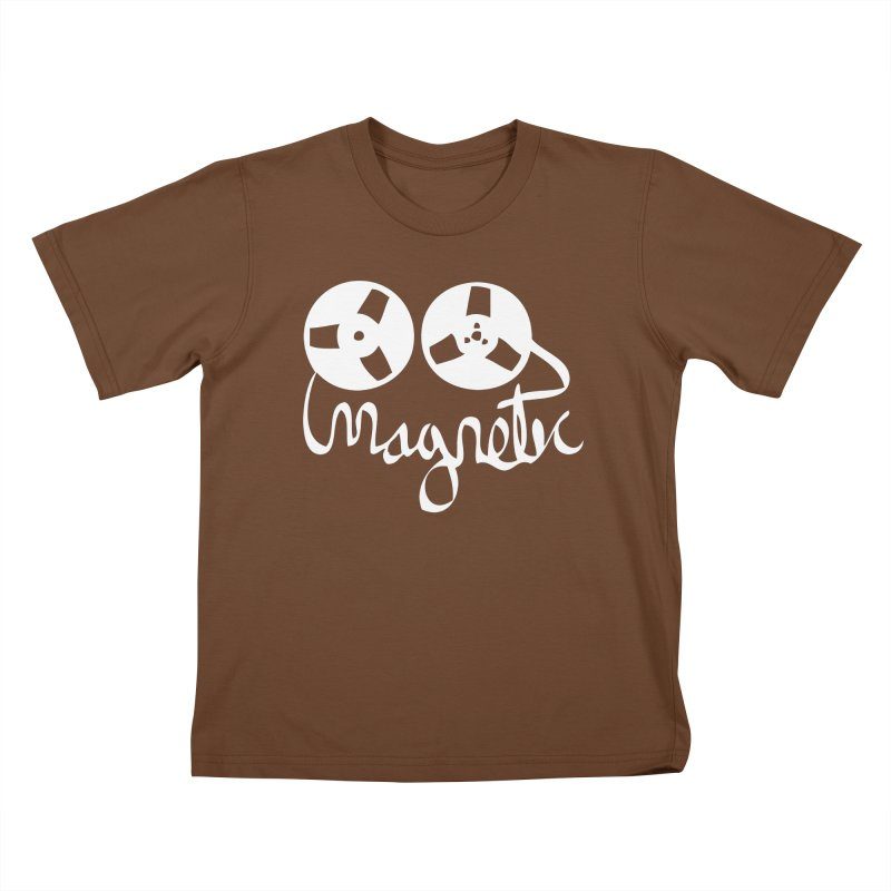 Magnetic Tape Reel Kids T-Shirt by magneticclothing's Artist Shop