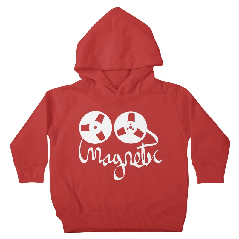 Magnetic Tape Reel Kids Toddler Pullover Hoody by magneticclothing's Artist Shop