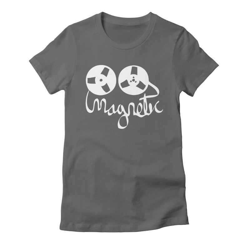 Magnetic Tape Reel Women's Fitted T-Shirt by magneticclothing's Artist Shop