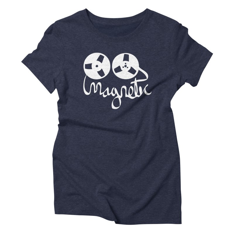 Magnetic Tape Reel Women's Triblend T-Shirt by magneticclothing's Artist Shop