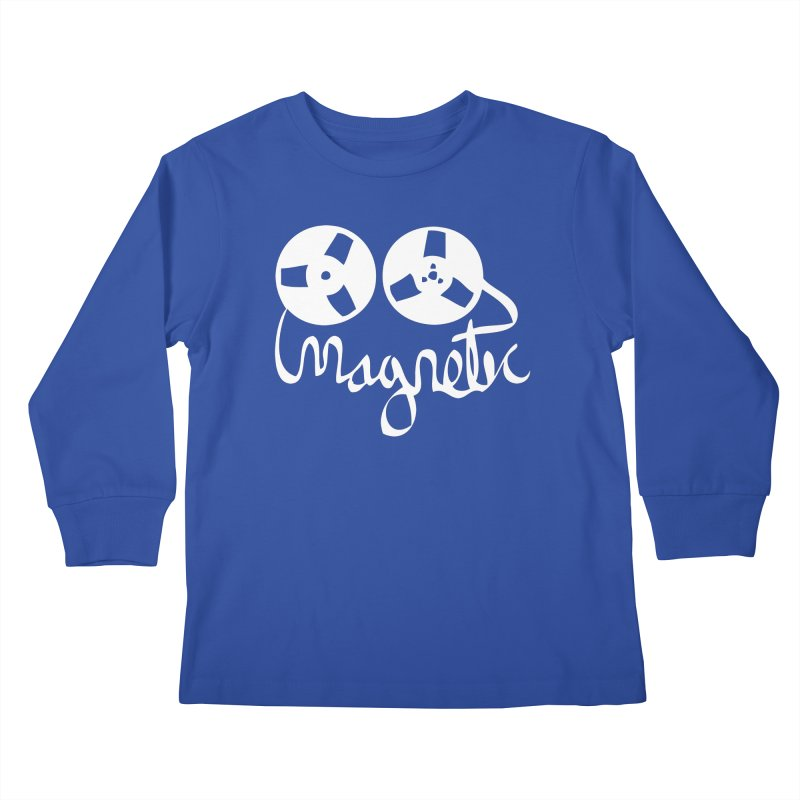 Magnetic Tape Reel Kids Longsleeve T-Shirt by magneticclothing's Artist Shop