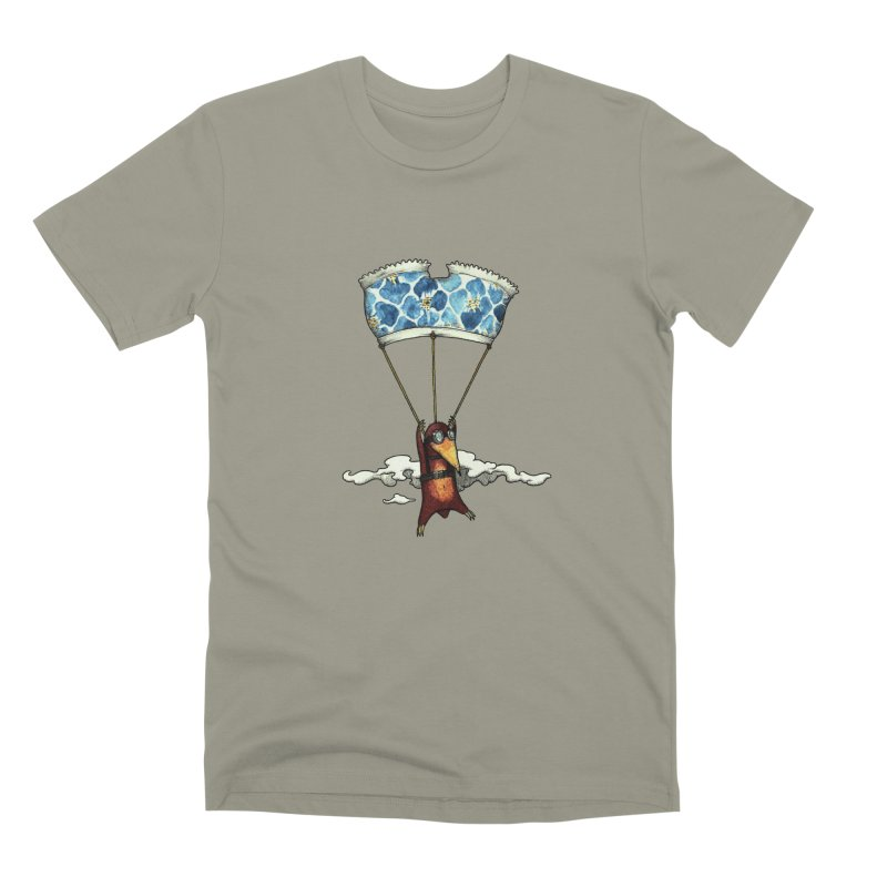 Skydiving mole Men's Premium T-Shirt by Magnus Blomster