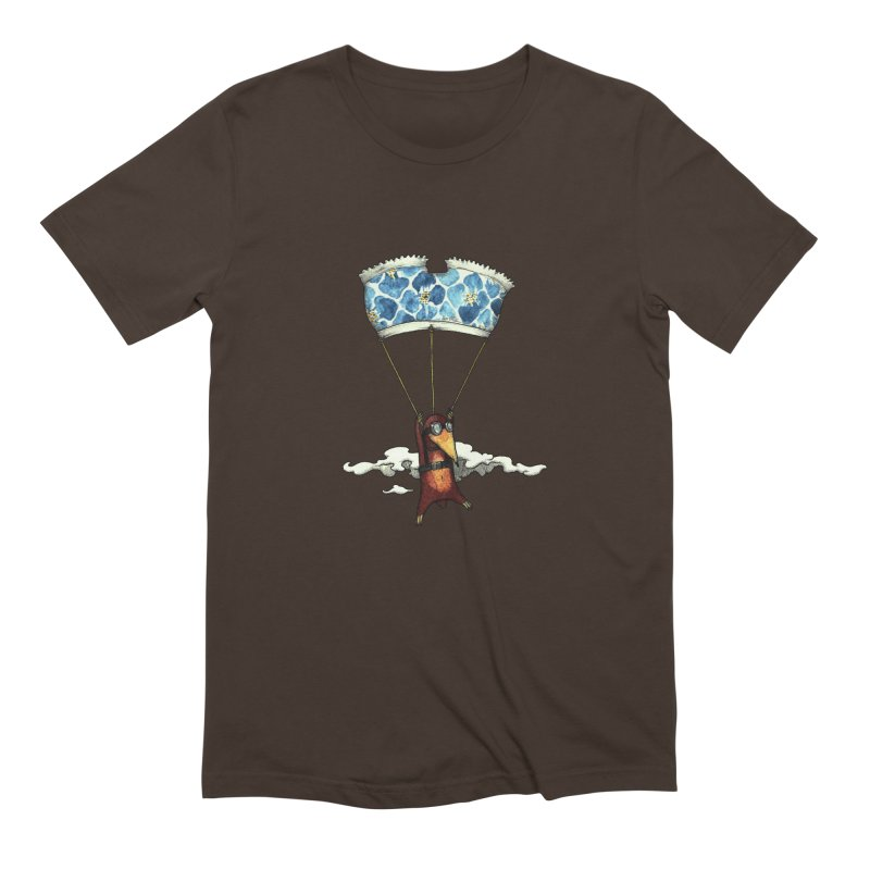 Skydiving mole Men's Extra Soft T-Shirt by Magnus Blomster
