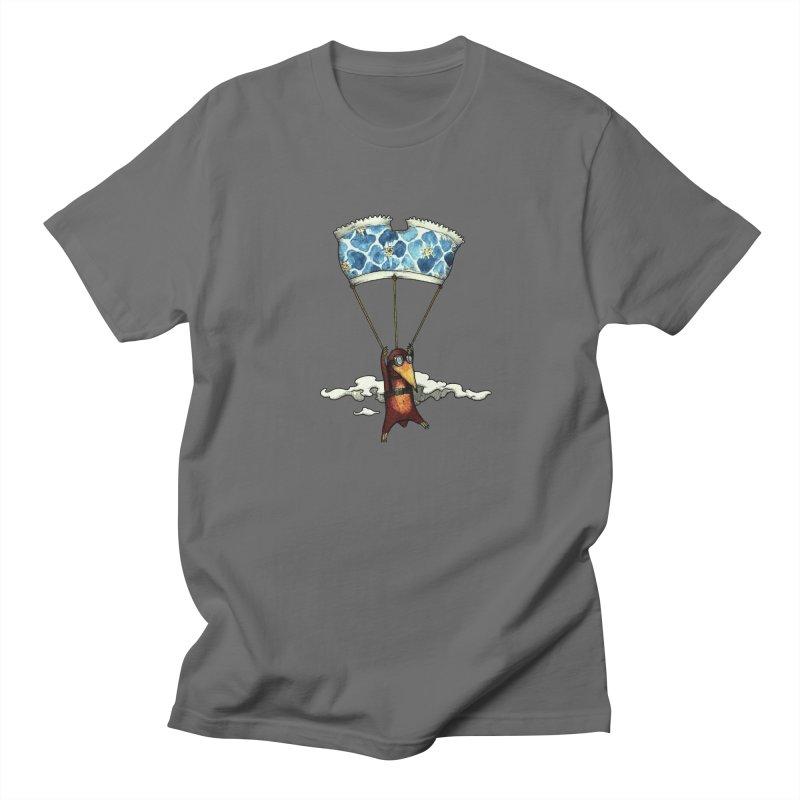 Skydiving mole Women's Regular Unisex T-Shirt by Magnus Blomster