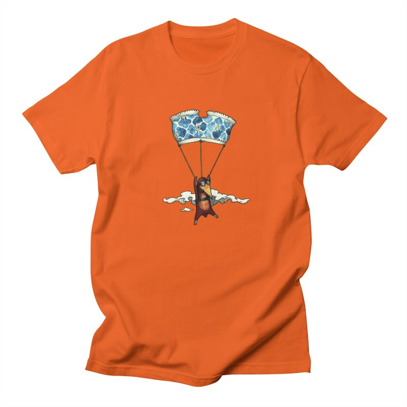 Skydiving mole Men's Regular T-Shirt by Magnus Blomster