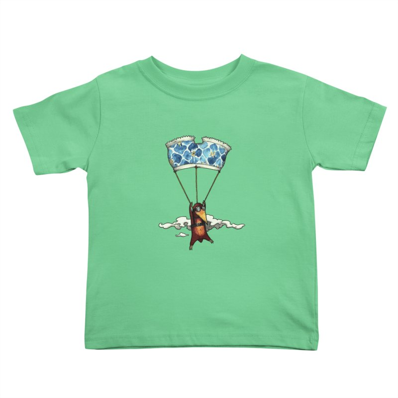 Skydiving mole Kids Toddler T-Shirt by Magnus Blomster