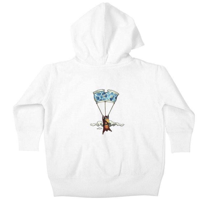 Skydiving mole Kids Baby Zip-Up Hoody by Magnus Blomster