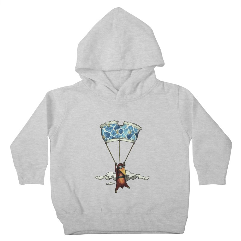 Skydiving mole Kids Toddler Pullover Hoody by Magnus Blomster