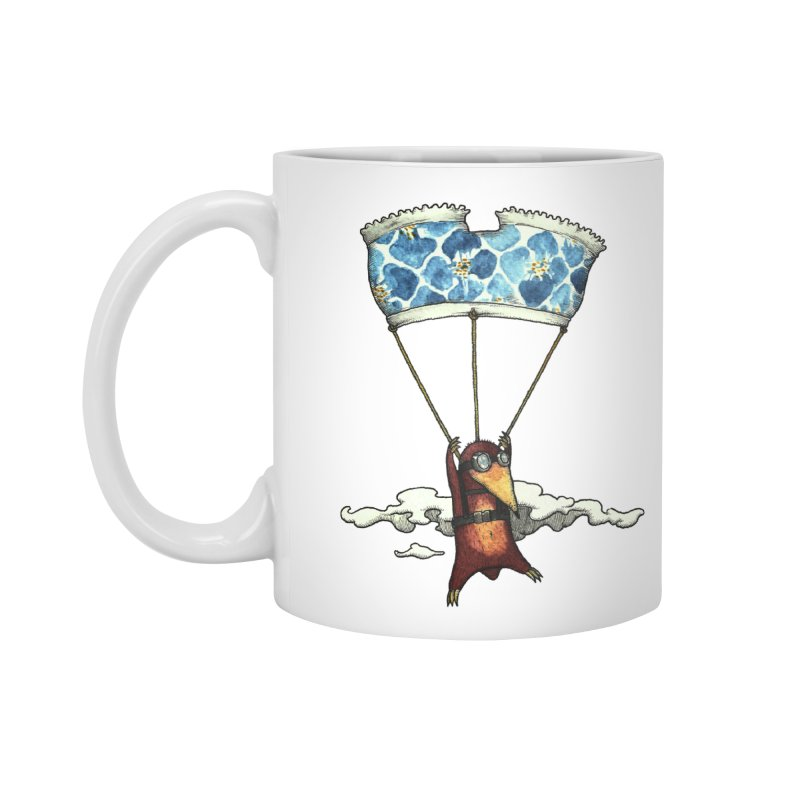 Skydiving mole Accessories Mug by Magnus Blomster