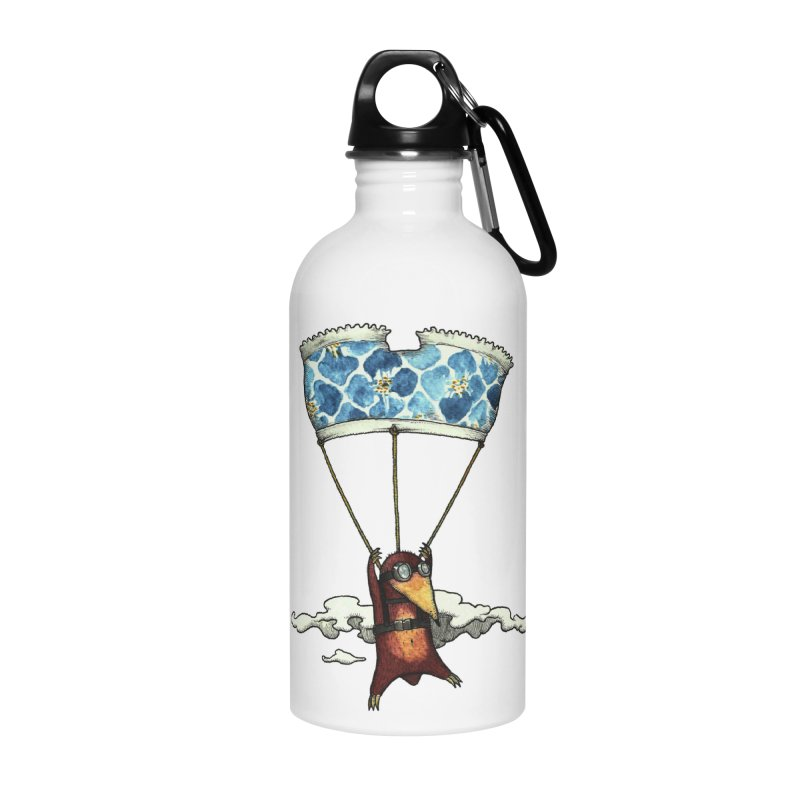 Skydiving mole Accessories Water Bottle by Magnus Blomster