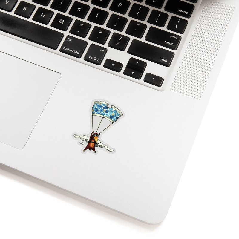 Skydiving mole Accessories Sticker by Magnus Blomster