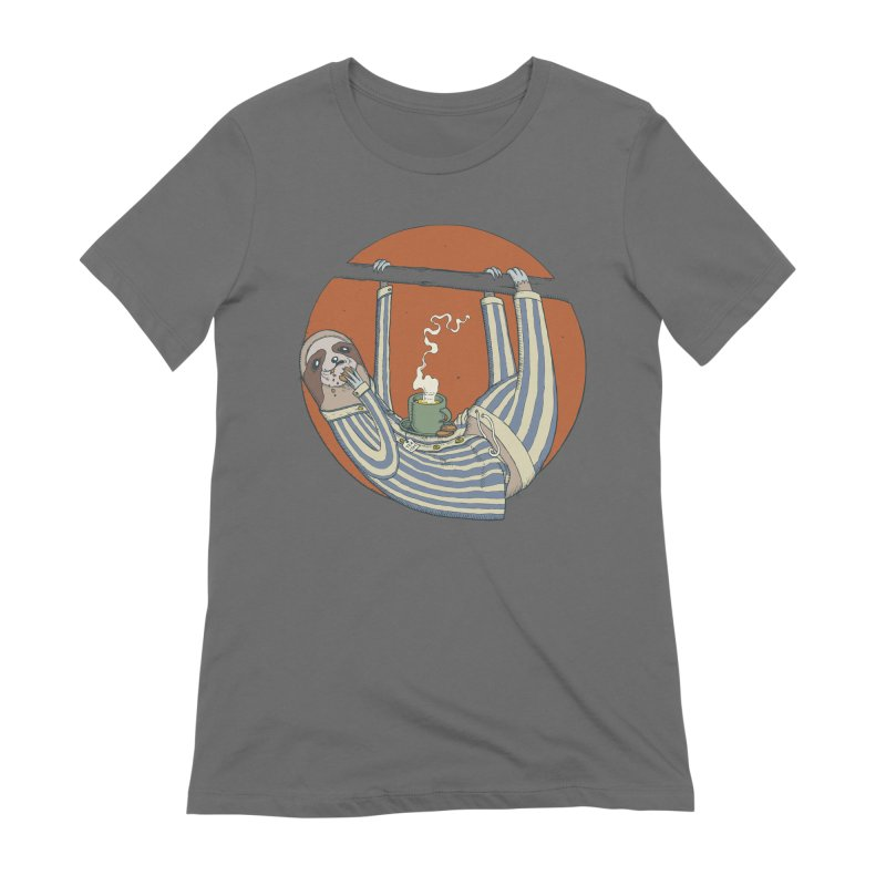 Sloth having breakfast Women's T-Shirt by Magnus Blomster
