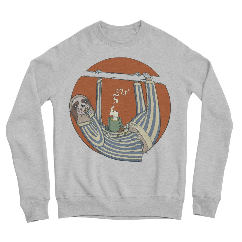 Sloth having breakfast Men's Sponge Fleece Sweatshirt by Magnus Blomster