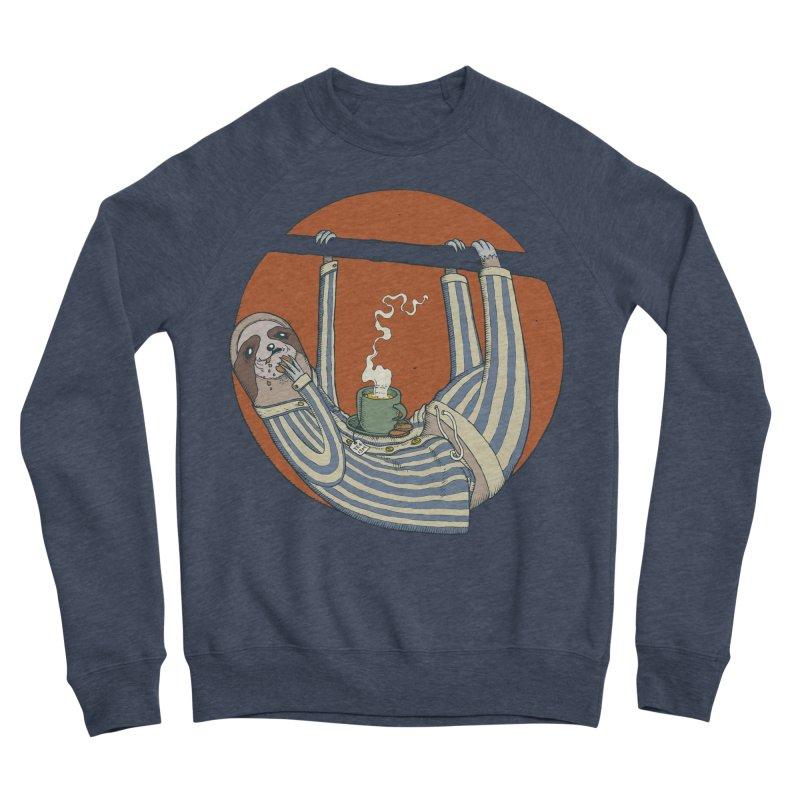 Sloth having breakfast Women's Sponge Fleece Sweatshirt by Magnus Blomster