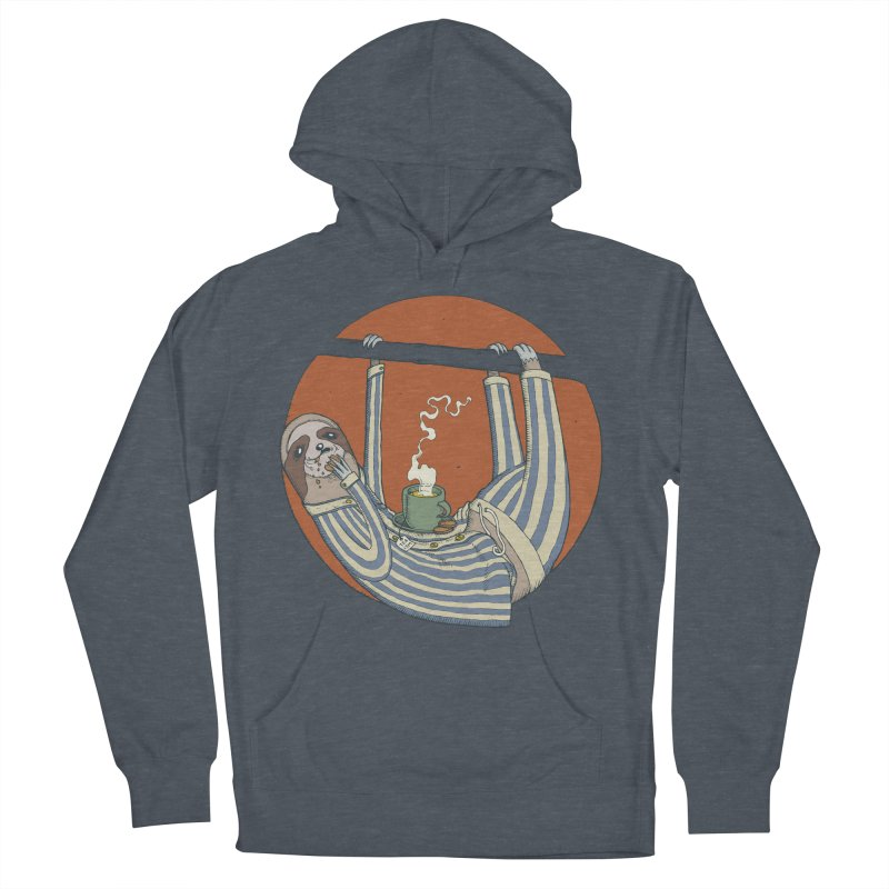 Sloth having breakfast Women's French Terry Pullover Hoody by Magnus Blomster