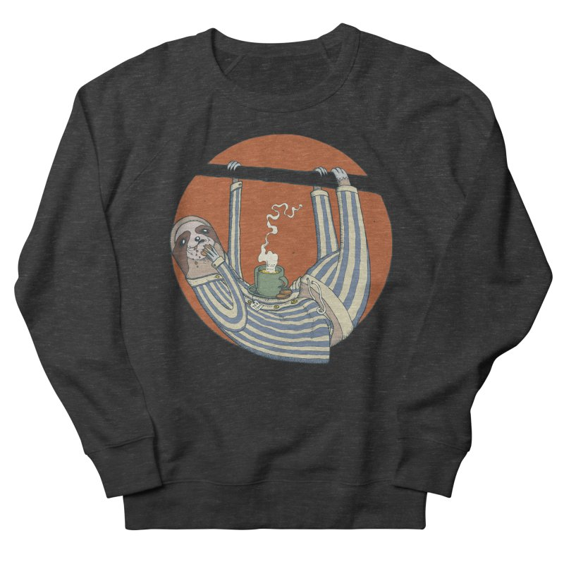 Sloth having breakfast Women's French Terry Sweatshirt by Magnus Blomster