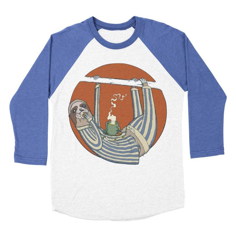 Sloth having breakfast Women's Baseball Triblend Longsleeve T-Shirt by Magnus Blomster