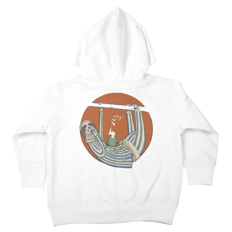 Sloth having breakfast Kids Toddler Zip-Up Hoody by Magnus Blomster