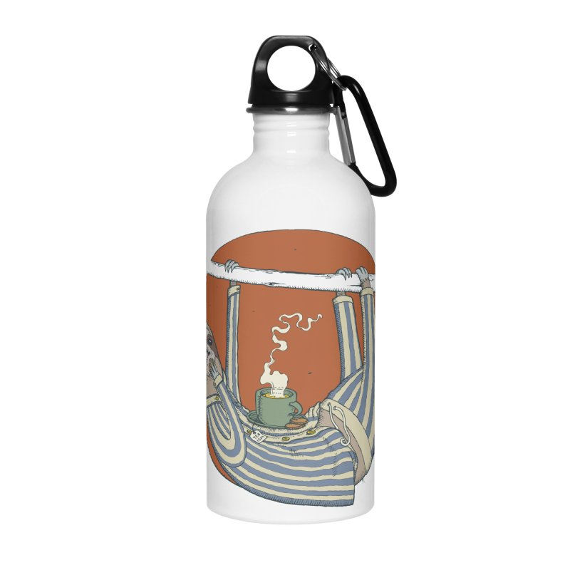 Sloth having breakfast Accessories Water Bottle by Magnus Blomster