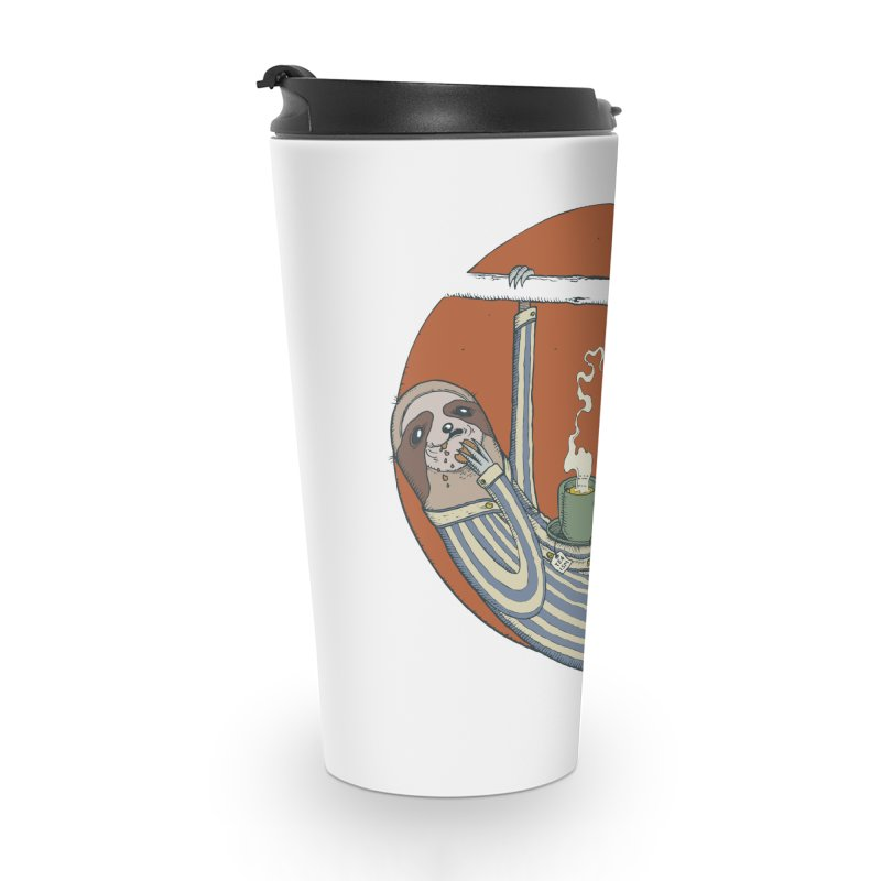 Sloth having breakfast Accessories Travel Mug by Magnus Blomster