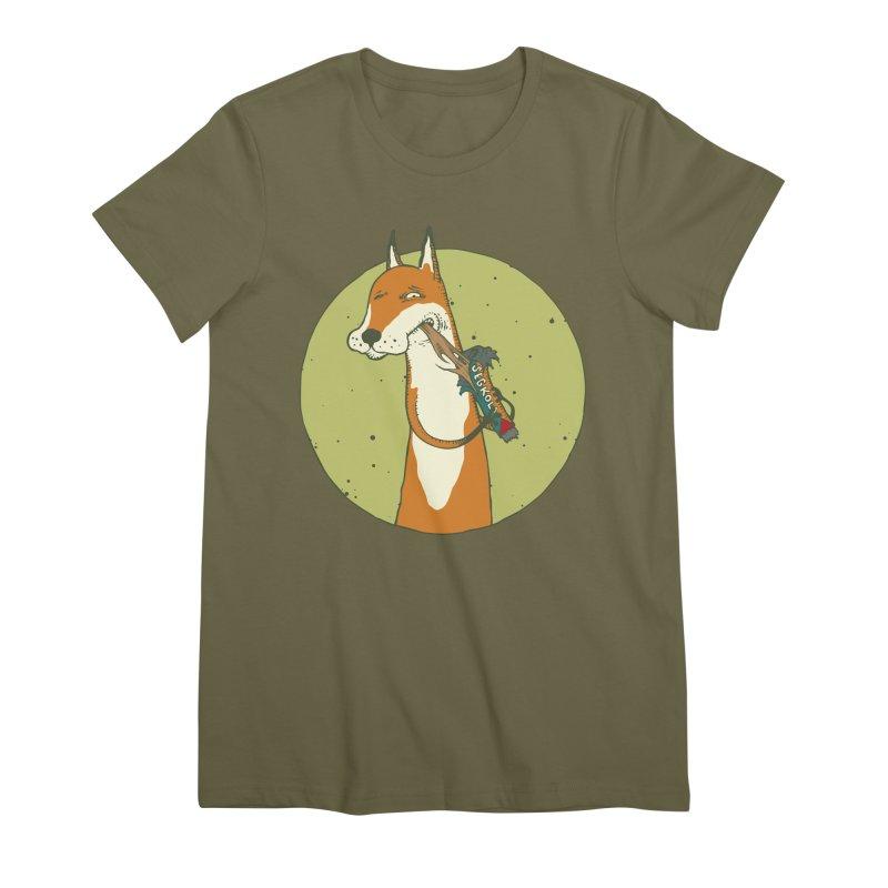 Fox vs toffee Women's Premium T-Shirt by Magnus Blomster