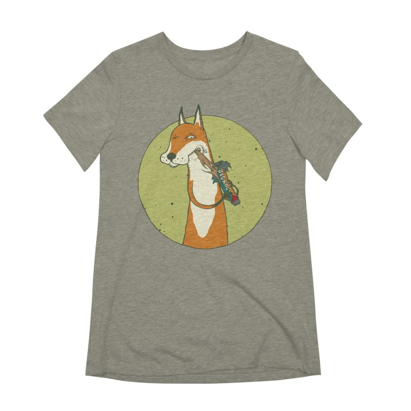 Fox vs toffee Women's Extra Soft T-Shirt by Magnus Blomster