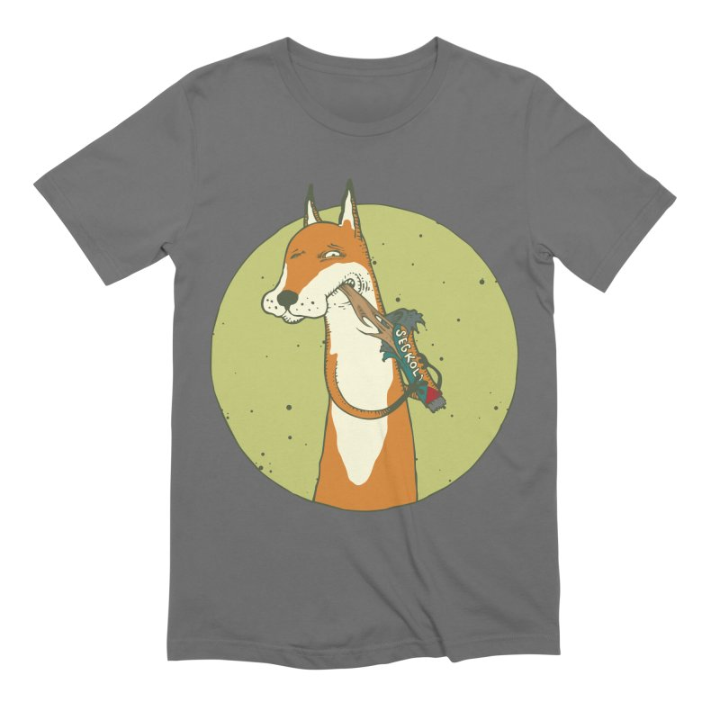 Fox vs toffee Men's Extra Soft T-Shirt by Magnus Blomster