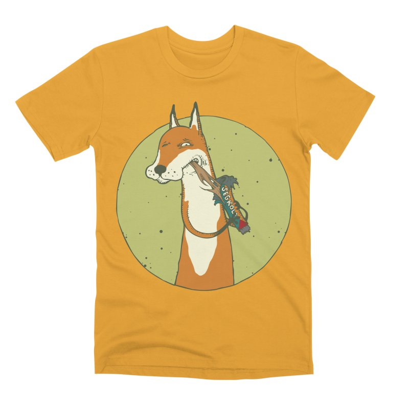 Fox vs toffee Men's Premium T-Shirt by Magnus Blomster