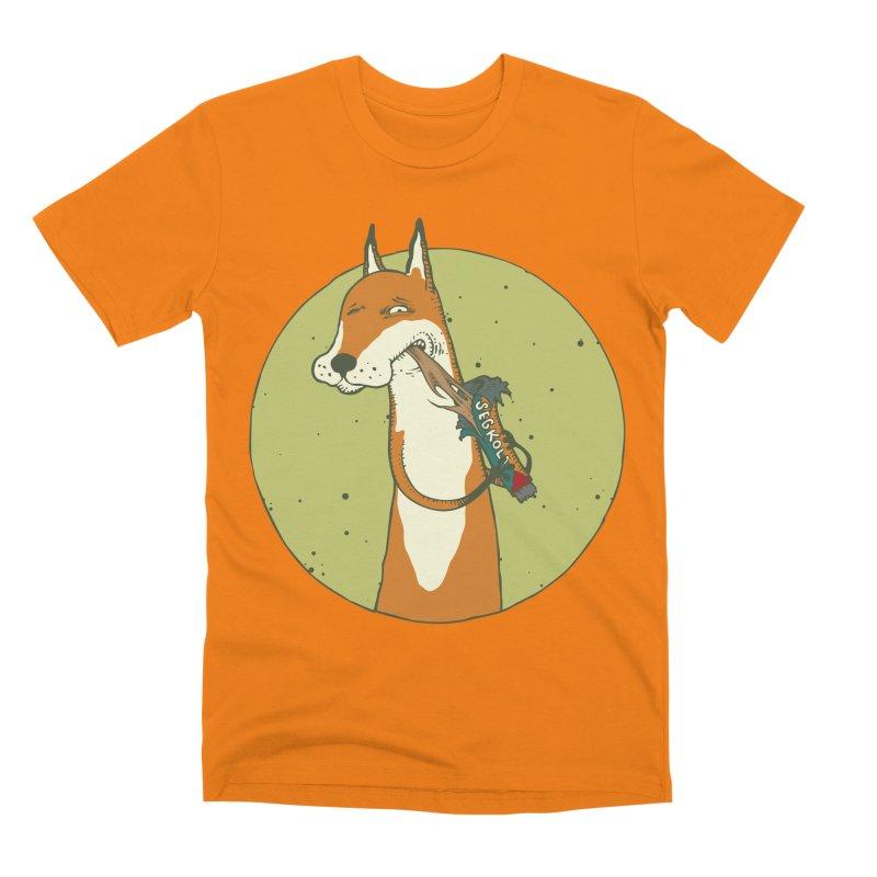 Fox vs toffee Men's Premium T-Shirt by Magnus Blomster