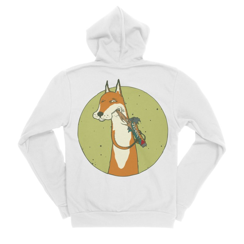 Fox vs toffee Women's Sponge Fleece Zip-Up Hoody by Magnus Blomster