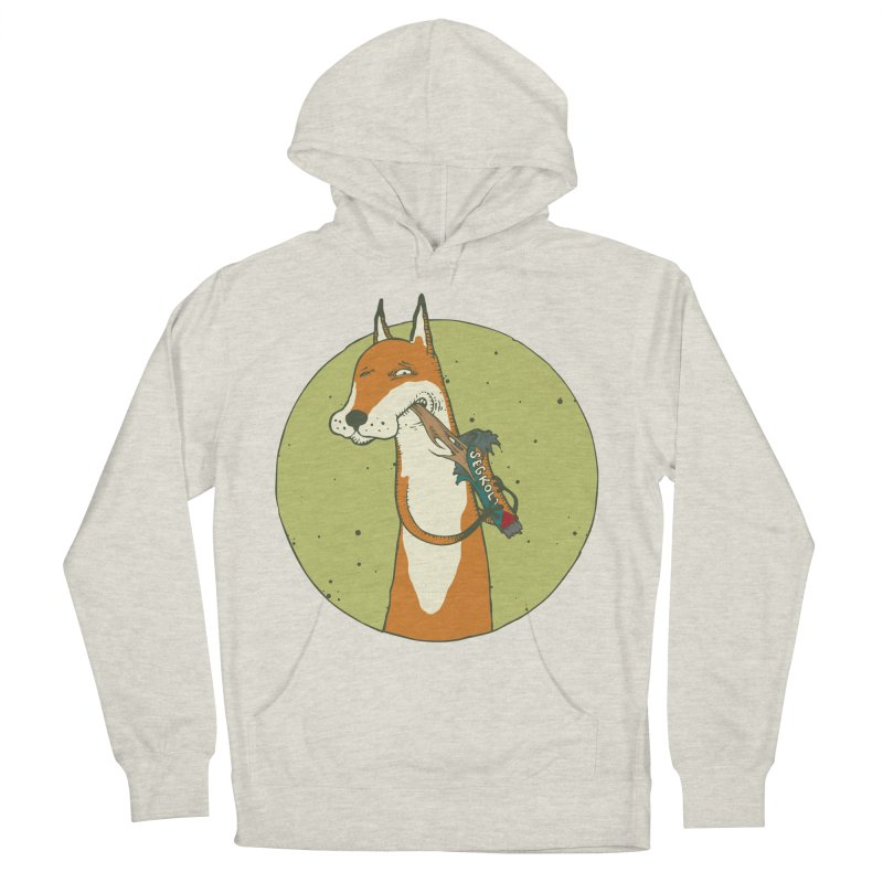 Fox vs toffee Women's French Terry Pullover Hoody by Magnus Blomster