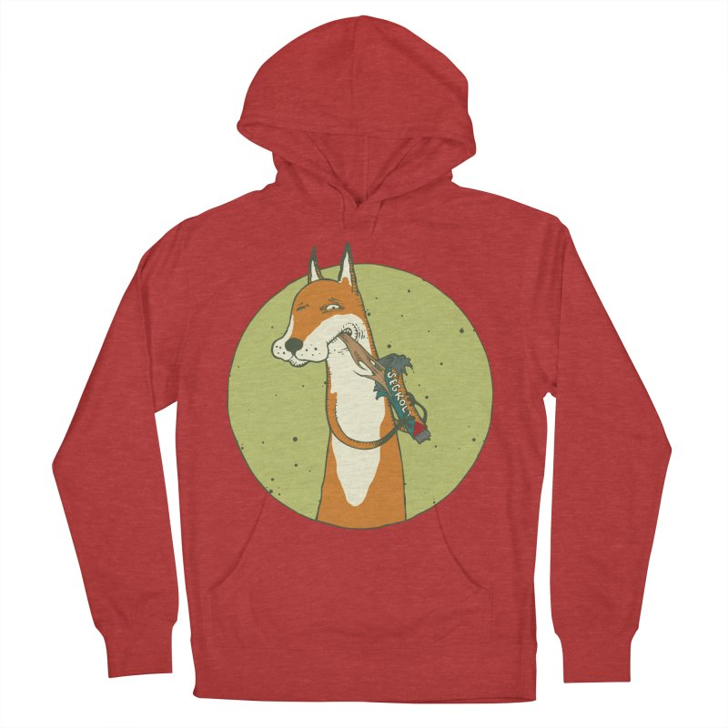 Fox vs toffee Men's French Terry Pullover Hoody by Magnus Blomster