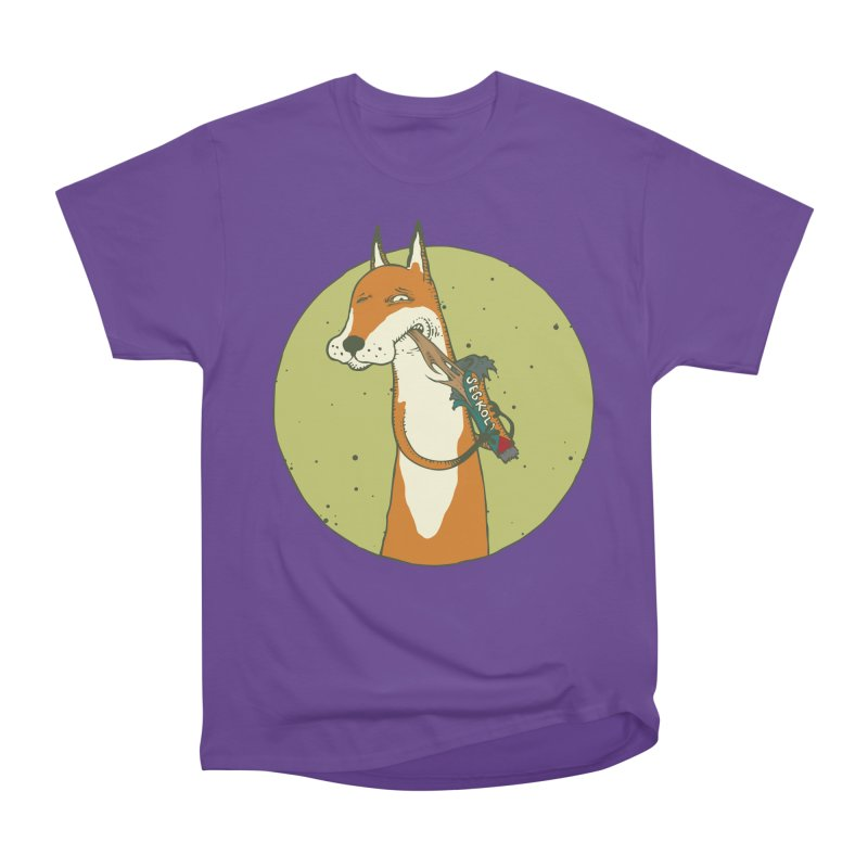 Fox vs toffee Women's Heavyweight Unisex T-Shirt by Magnus Blomster