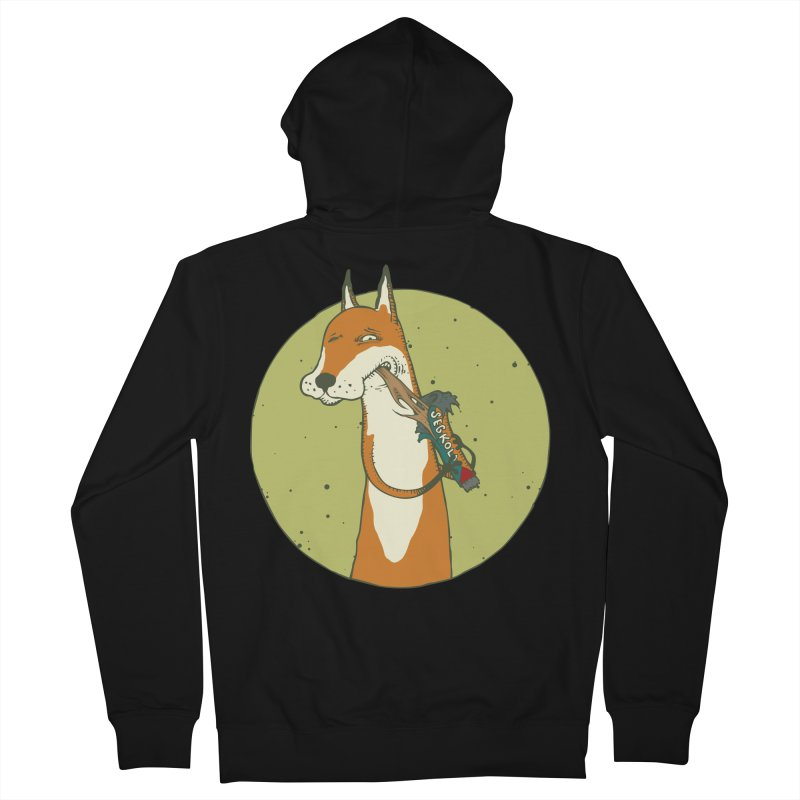Fox vs toffee Women's French Terry Zip-Up Hoody by Magnus Blomster