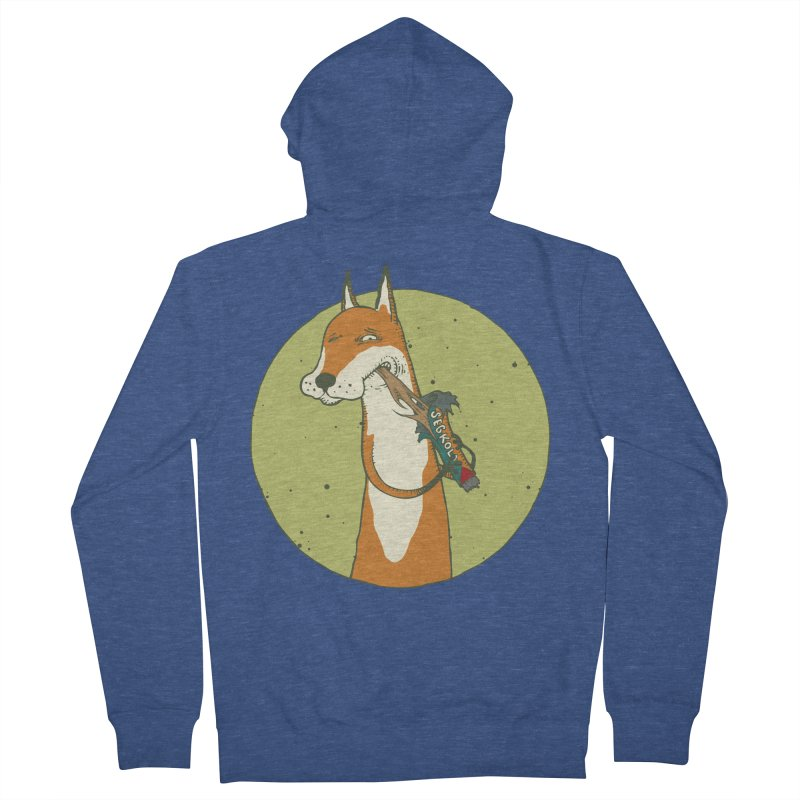 Fox vs toffee Men's French Terry Zip-Up Hoody by Magnus Blomster