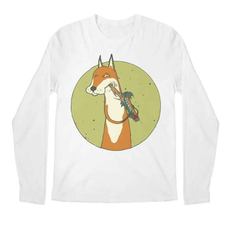 Fox vs toffee Men's Regular Longsleeve T-Shirt by Magnus Blomster