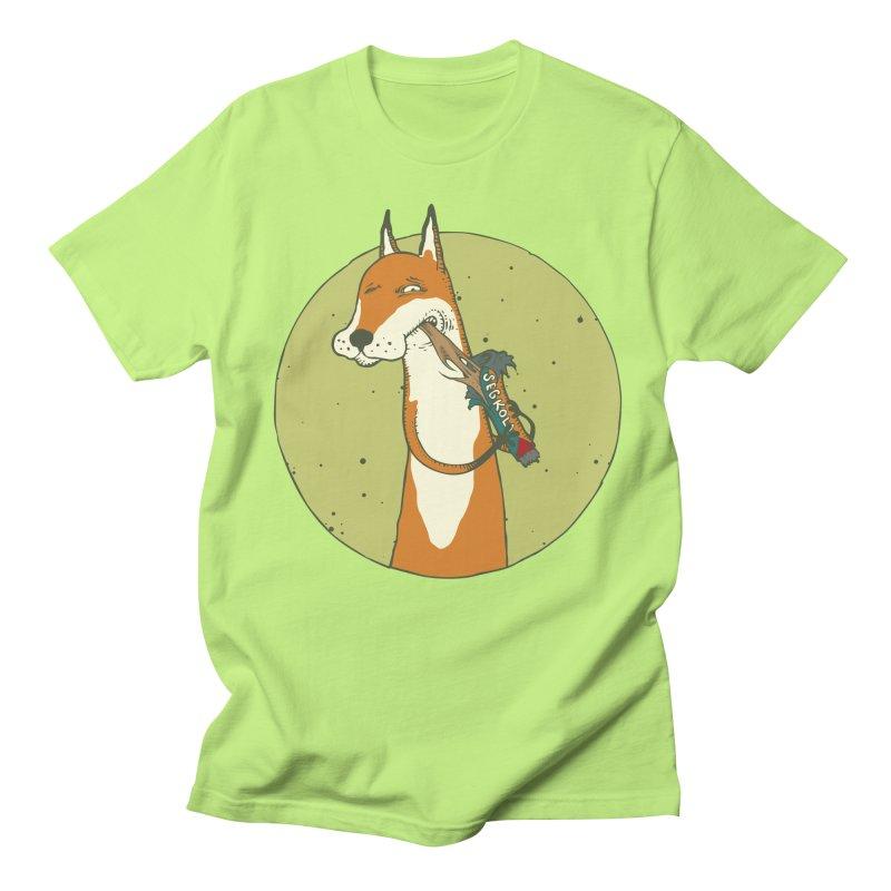 Fox vs toffee Men's Regular T-Shirt by Magnus Blomster