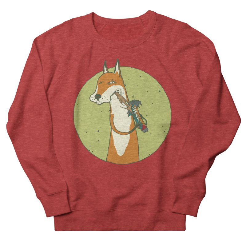 Fox vs toffee Women's French Terry Sweatshirt by Magnus Blomster