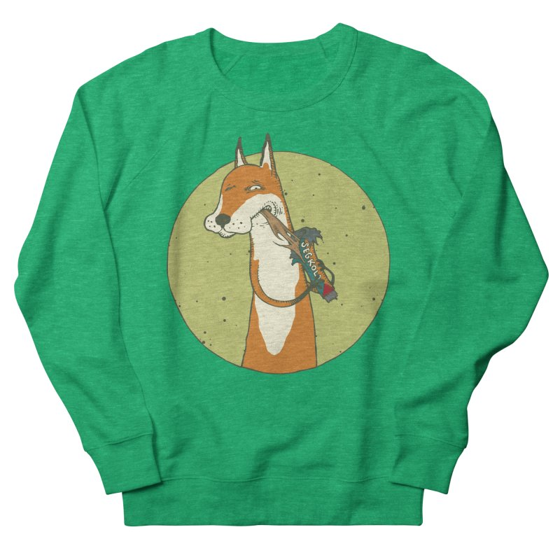 Fox vs toffee Men's French Terry Sweatshirt by Magnus Blomster